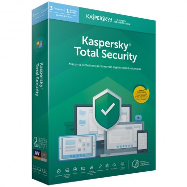 Kaspersky Total Security 2020 5 PC / Dispositivi (PC,MAC,Android,IOS) - ESD