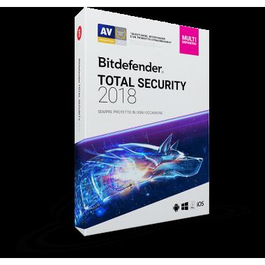 Bitdefender Total Security 2019 5 PC / Dispositivi (PC, MAC, Android, iOS) - ESD