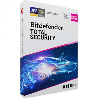 Bitdefender Total Security 2020 5 Dispositivi (PC, MAC, Android, iOS) - ESD - 2 anni - NUOVA