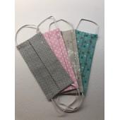 Mascherine di protezione in cotone lavabili e riutilizzabili
