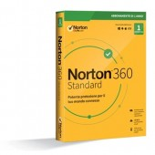 ​Norton 360 Standard - 1 Dispositivo -  Antivirus + VPN Secure + Passwort Manager + 10 GB Cloud-Backup