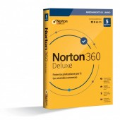 Norton 360 Deluxe 5 Dispositivi (PC,MAC,Android,IOS) - ESD - Antivirus + VPN Secure + Passwort Manager + 50 GB Cloud-Backup